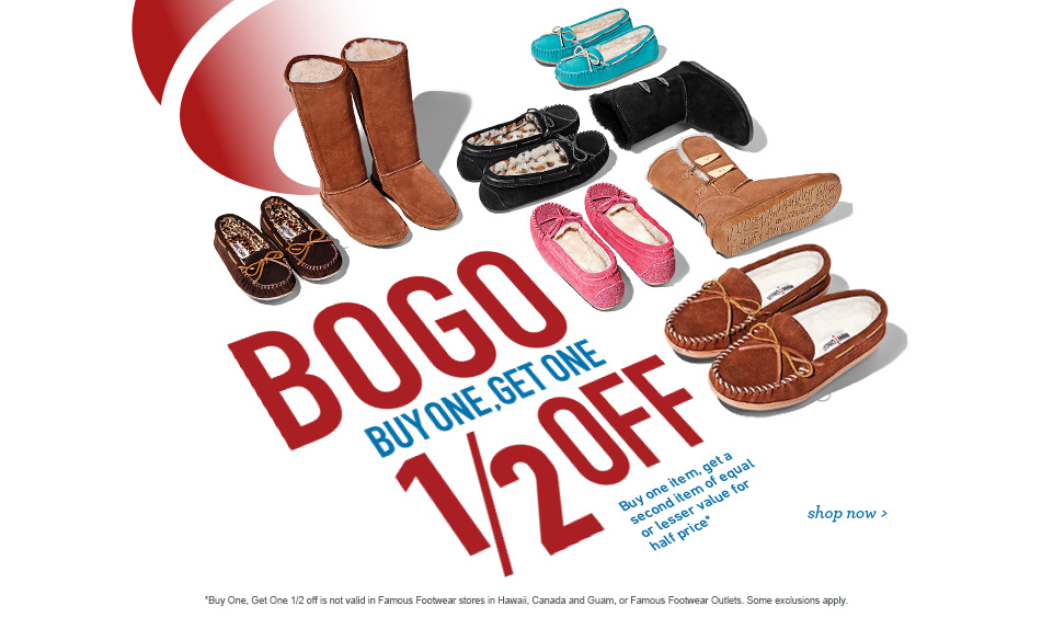 Bogo At Famous Footwear Buy One Get One At 50 Off